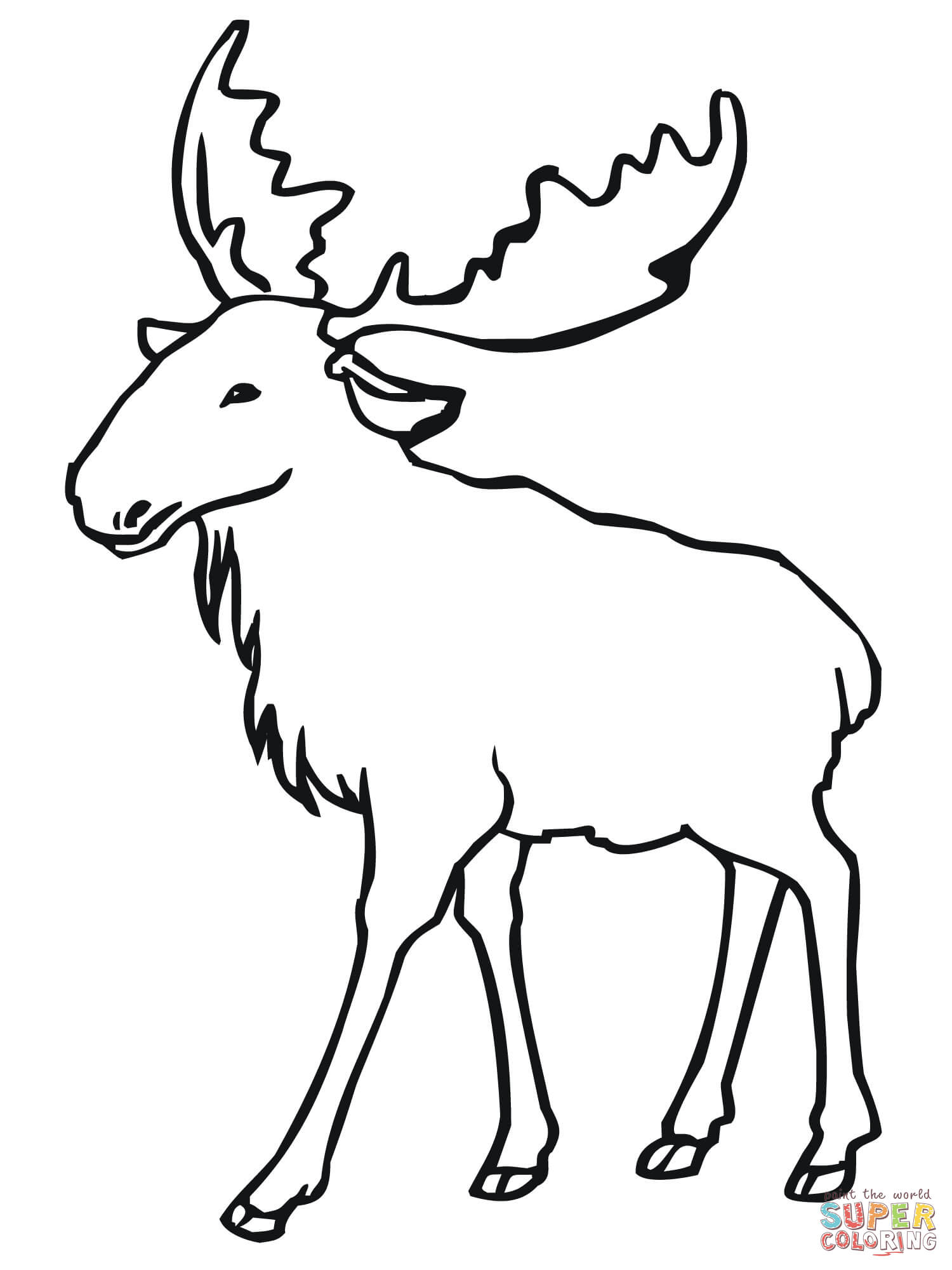 Moose Skull Drawing at GetDrawings.com | Free for personal use Moose ...