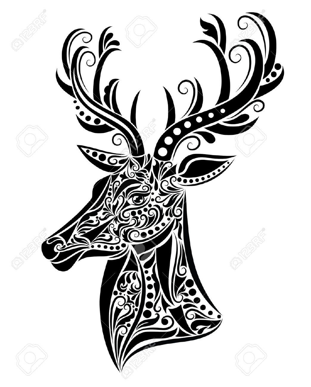1044x1300 Buck Clipart Moose Head