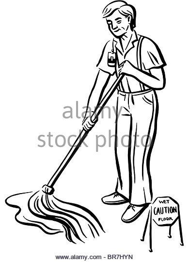 390x540 Floor Cleaning Mop Icon Cartoon Stock Photos Amp Floor Cleaning Mop