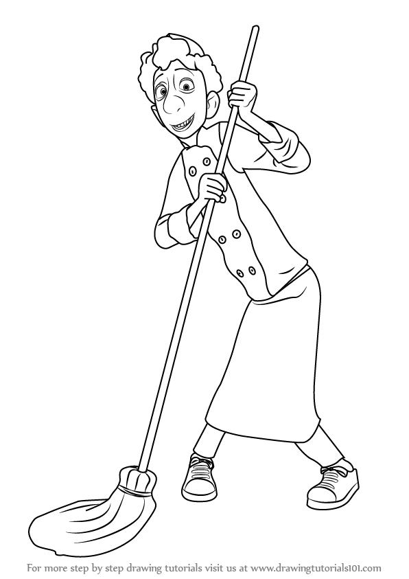 596x843 Learn How To Draw Alfredo Linguini Tatou From Ratatouille
