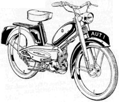Moped Drawing