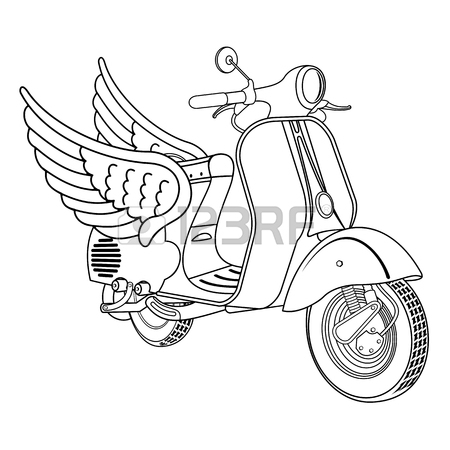 450x450 Elegant Vintage Scooter Logo Templates. Vintage Style Vintage