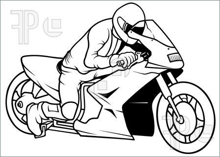 449x321 Illustration Of Motorcycle Racing, Hand Drawn Illustration +