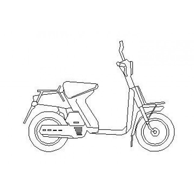 645x645 Moped Cad Dwg Block