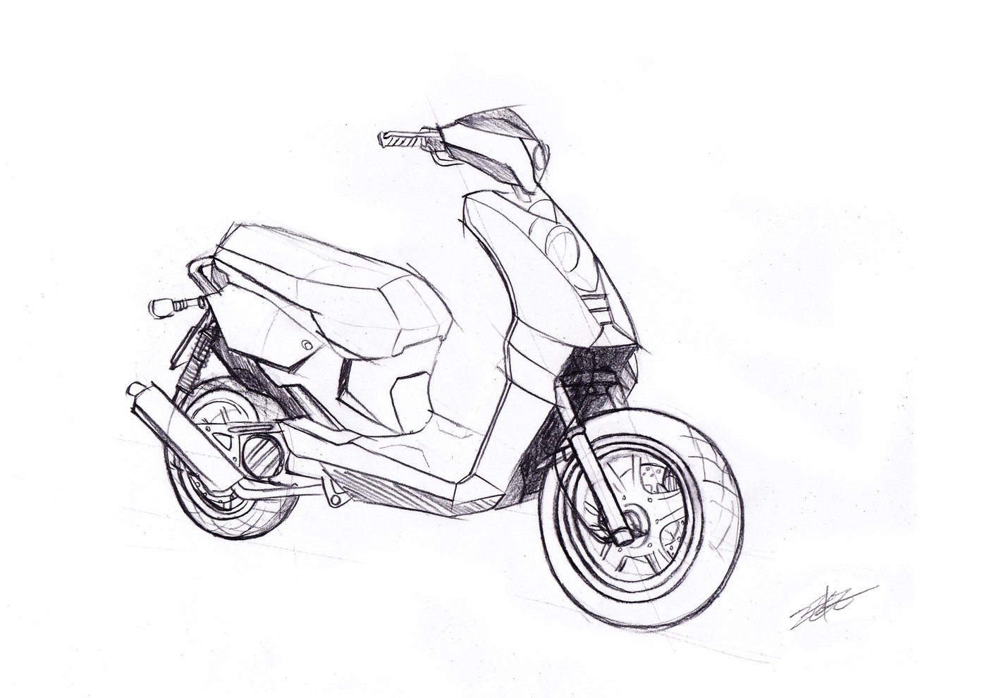 1400x990 Motorcycle Sketch And 2d Rendering By Minghsien Wu