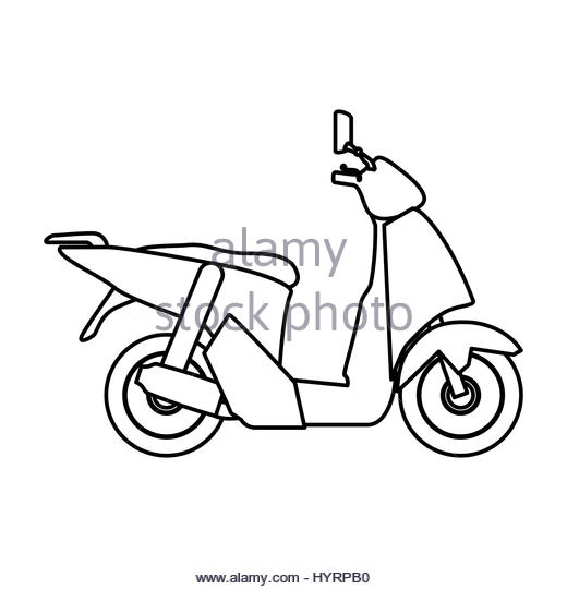520x540 Scooter Motorcycle Silhouette Icon Vector Stock Photos Amp Scooter