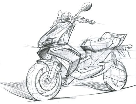 474x363 Xenophya Scooter Sketch A Scooters, Sketches