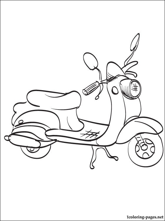 560x750 Coloring Page Moped Coloring Pages