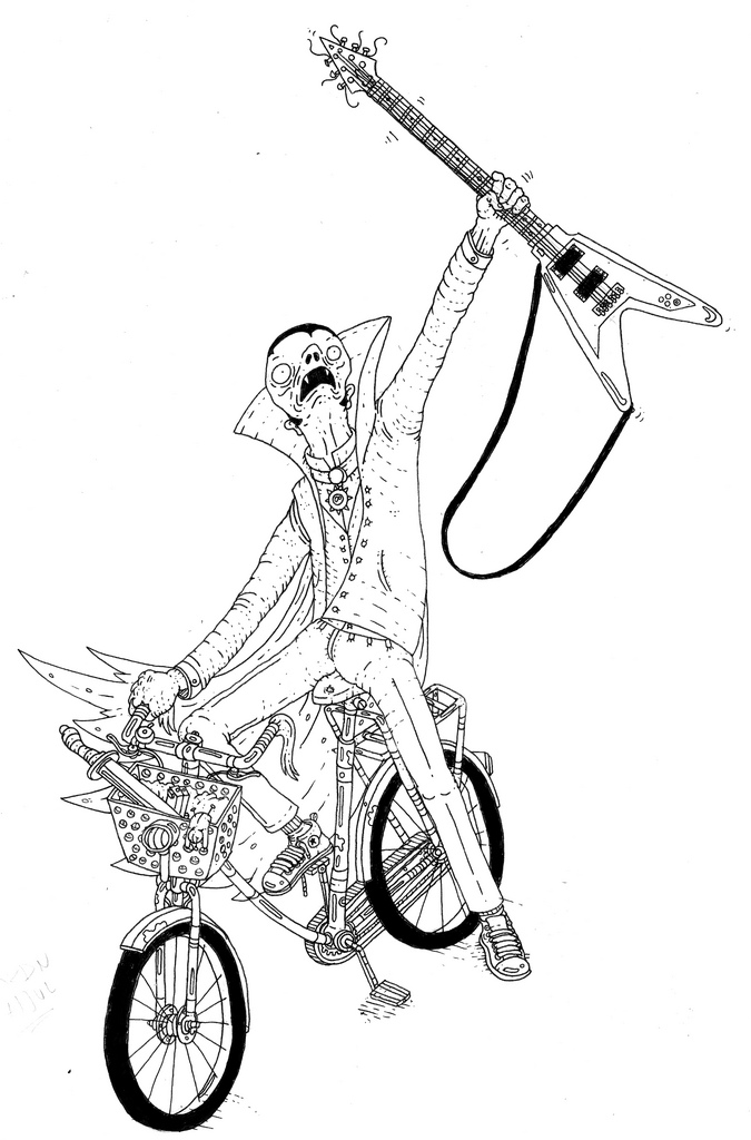 675x1024 Draculas Bike Rune Alexandersen Beauton Art Gallery Drawings