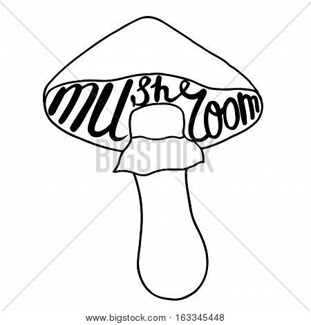 450x470 Mushroom Graphic Drawing Trace Art Vector Amp Photo Bigstock