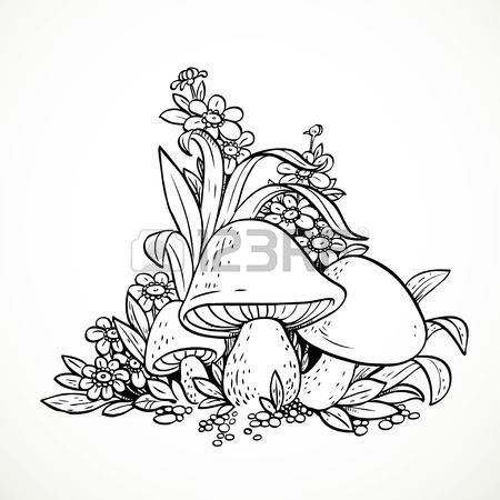 450x450 7,052 Mushroom Sketch Stock Illustrations, Cliparts And Royalty