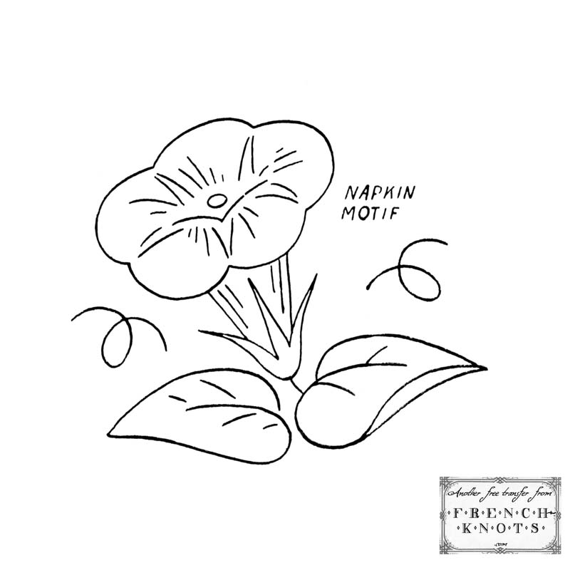 800x800 Free Morning Glory Embroidery Transfer Patterns