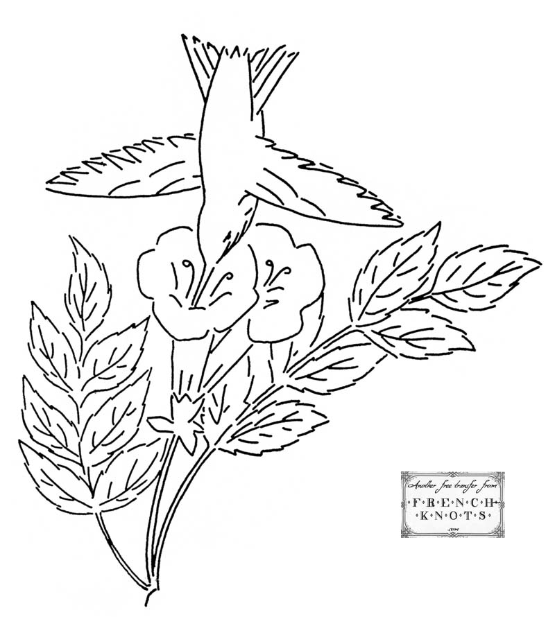 800x890 Free Morning Glory Embroidery Transfer Patterns