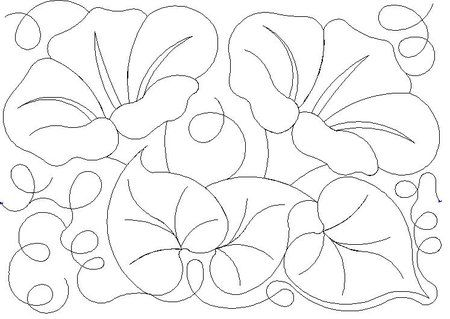 450x319 15 images of morning glory leaf template
