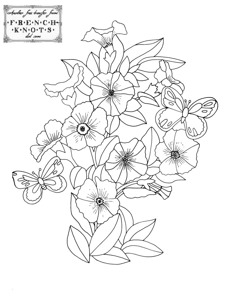 800x985 Fabulous Flowers Embroidery Transfer Patterns
