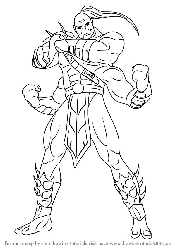 598x844 Learn How To Draw Goro From Mortal Kombat (Mortal Kombat) Step By