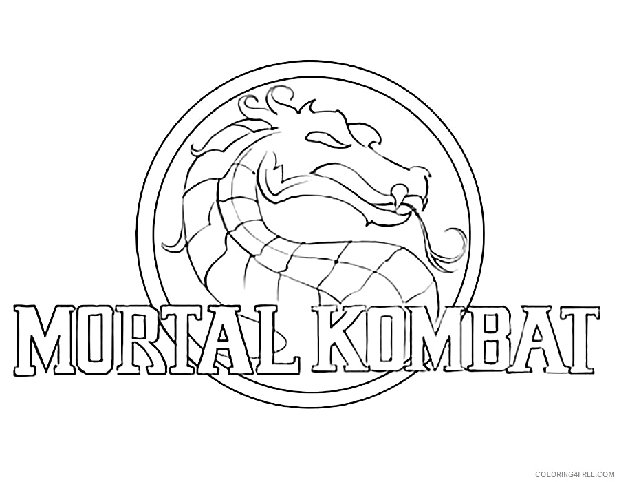 900x700 Good Mortal Kombat Coloring Pages 88 With Additional Coloring