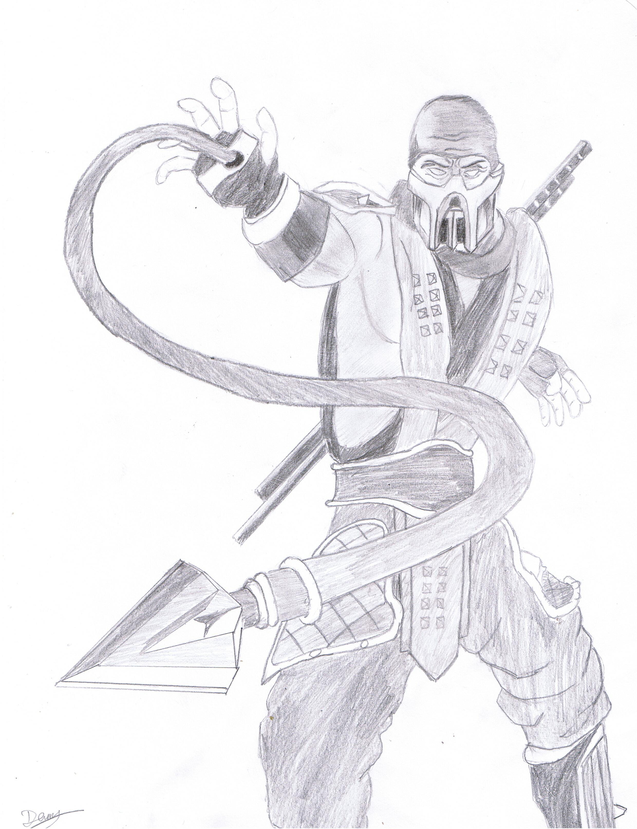 mortal kombat drawing at getdrawings free for personal use Mortal Kombat Barbie 1041x581 mortal kombat scorpion 2480x3229 scorpion