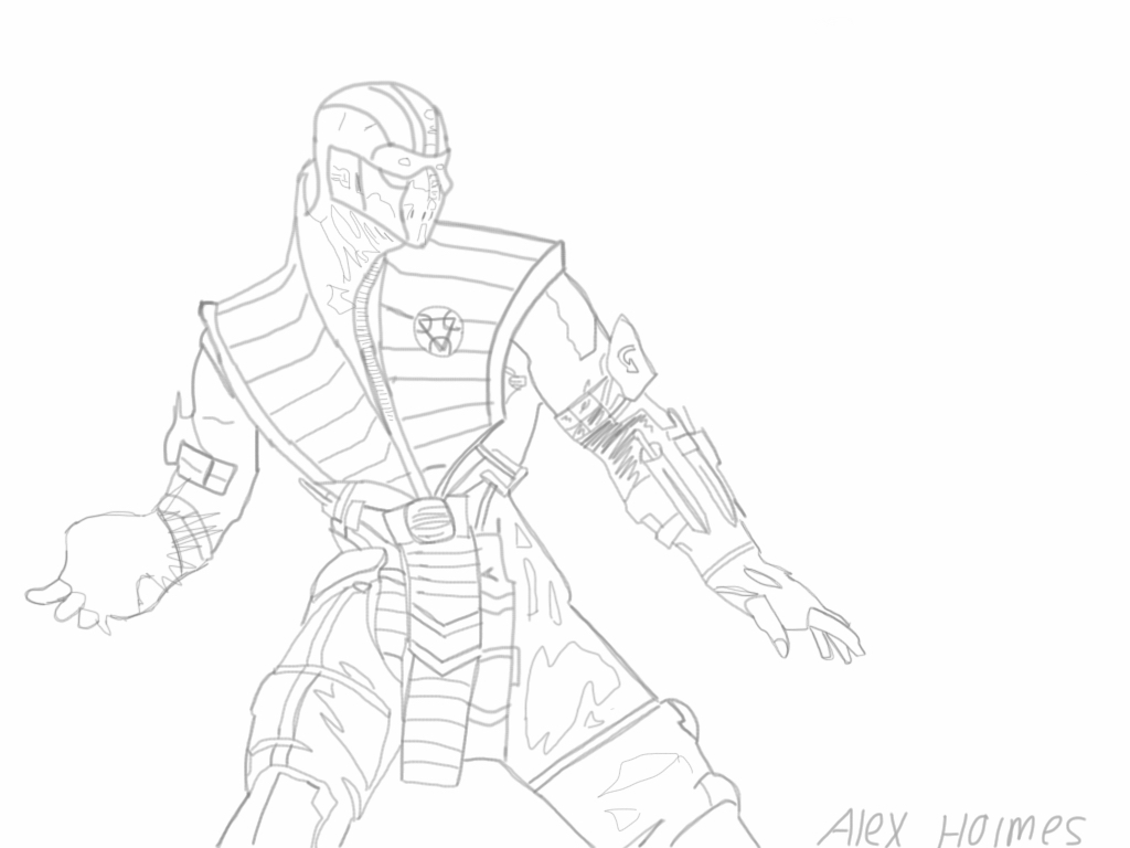 mortal kombat drawing at getdrawings free for personal use Roster Mortal Kombat 11 1024x768 sub zero mortal kombat x by alexholmes98