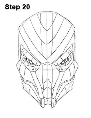 300x388 How To Draw Reptile (Mortal Kombat)