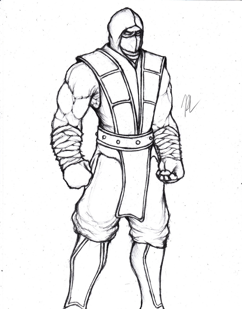 This is a graphic of Bewitching Mkx Scorpion Coloring Page