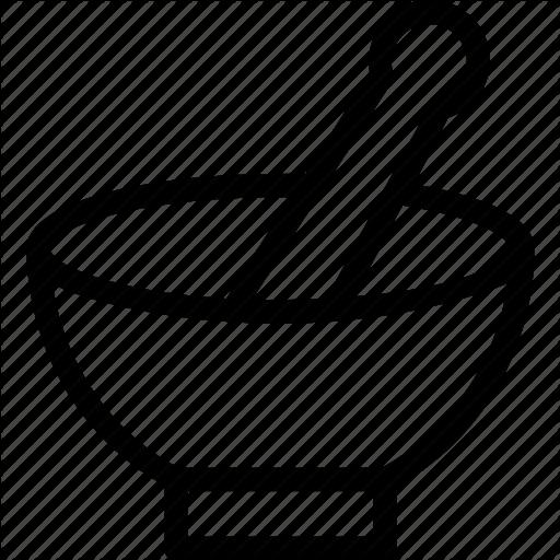 512x512 Kitchen Utensil, Medicine Bowl, Mortar, Pestle, Pharmacy Tool Icon