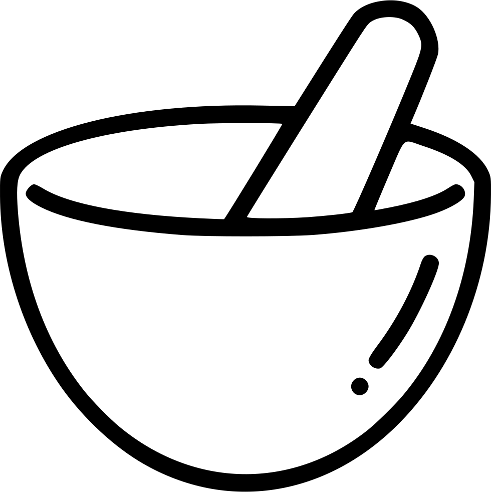 980x982 Mortar Pestle Hand Grind Mix Bowl Svg Png Icon Free Download