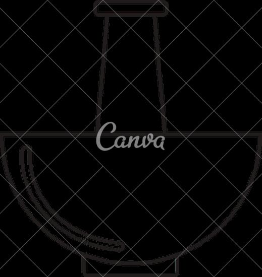 519x550 Mortar And Pestle. Black Illustration