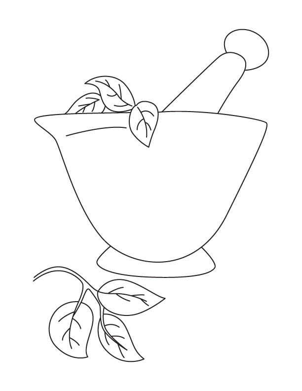 612x792 Mortar And Pestle Coloring Page Download Free Mortar And Pestle