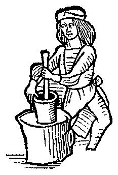 233x344 A Feast For The Eyes 41. Using A Mortar And Pestle. From Medieval