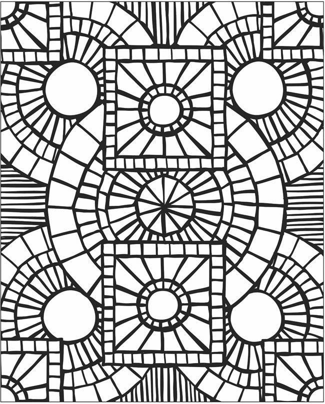 650x809 Mosaic Patterns Printable Mosaic Patterns Coloring Pages