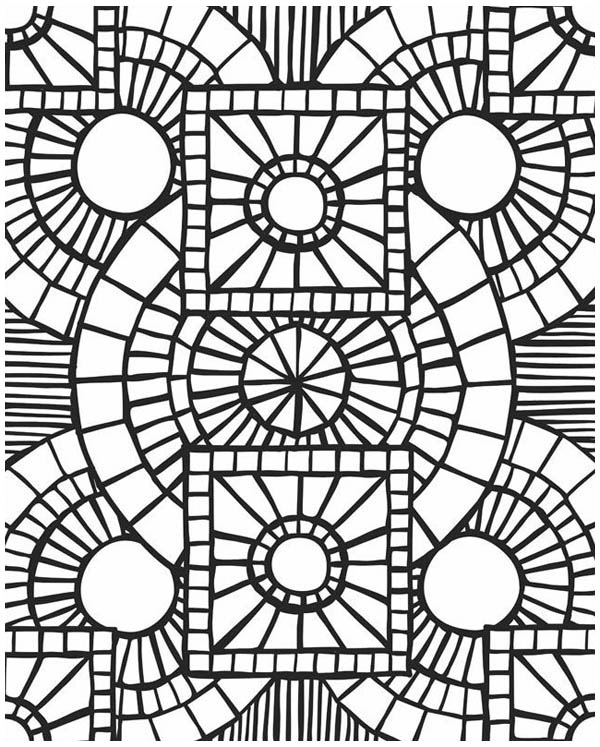 600x747 Beautiful Free Mosaic Coloring Pages 18 For New Coloring Pages