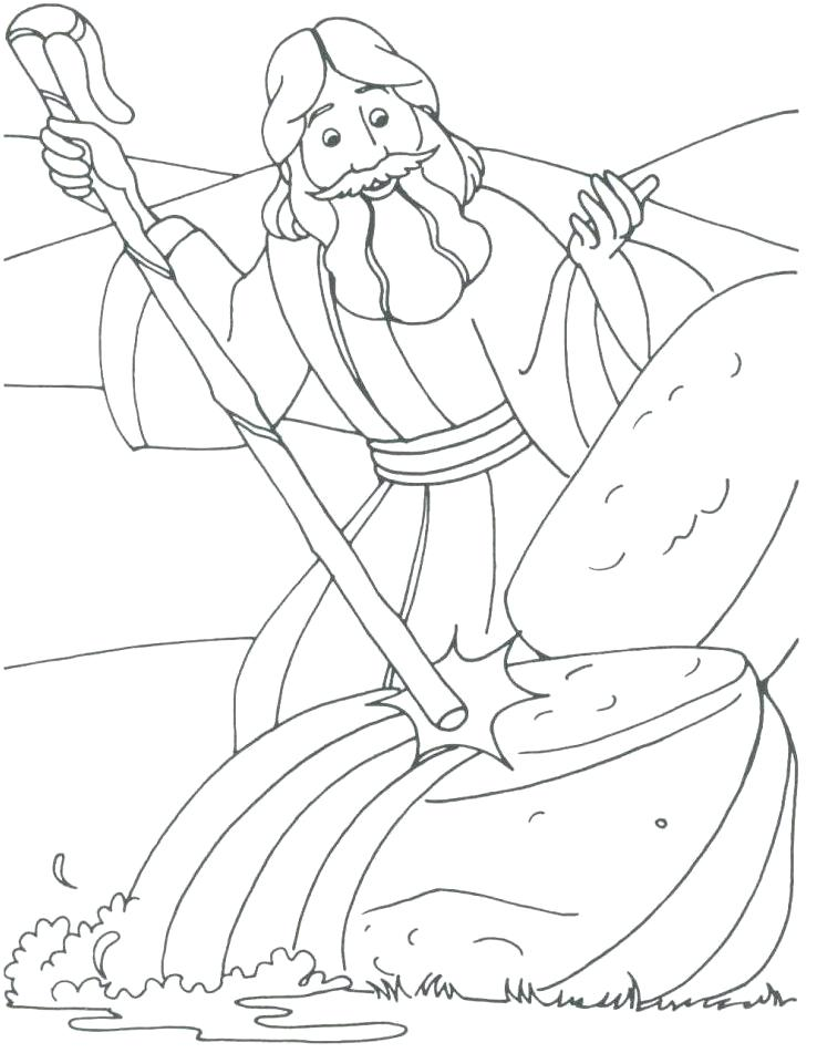 738x951 10 Plagues Colouring Pages Moses Coloring Drawings Page Best