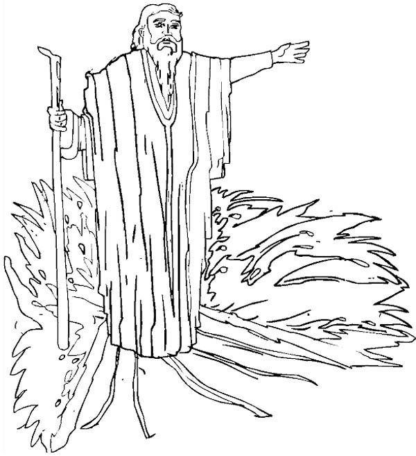 600x657 Drawing Prophet Moses Coloring Page Color Luna