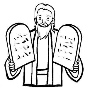 300x300 How To Draw Moses And Ten Commandments Coloring Page Coloring Sun