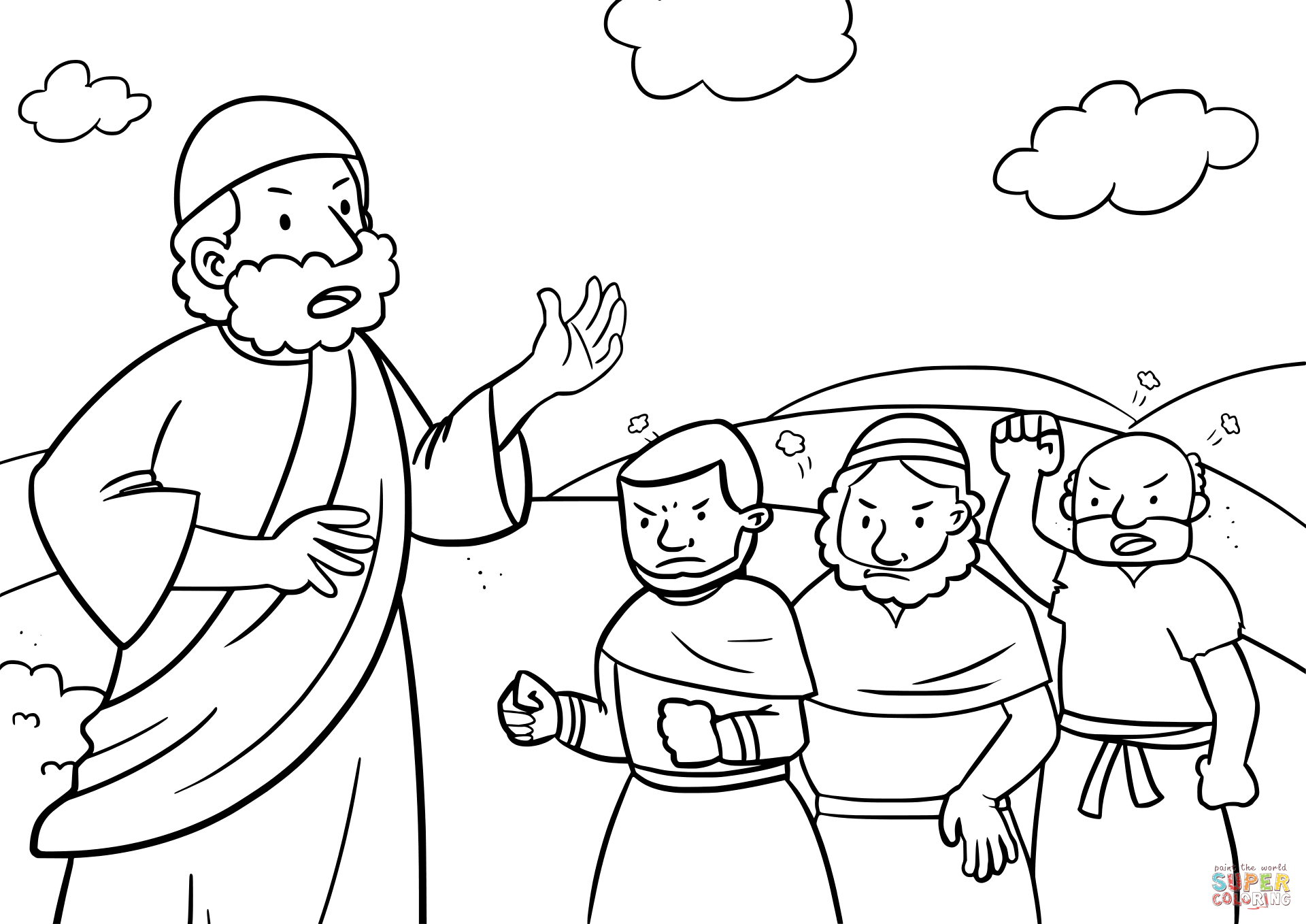 1920x1358 Israelites Complaining To Moses Coloring Page Free Printable