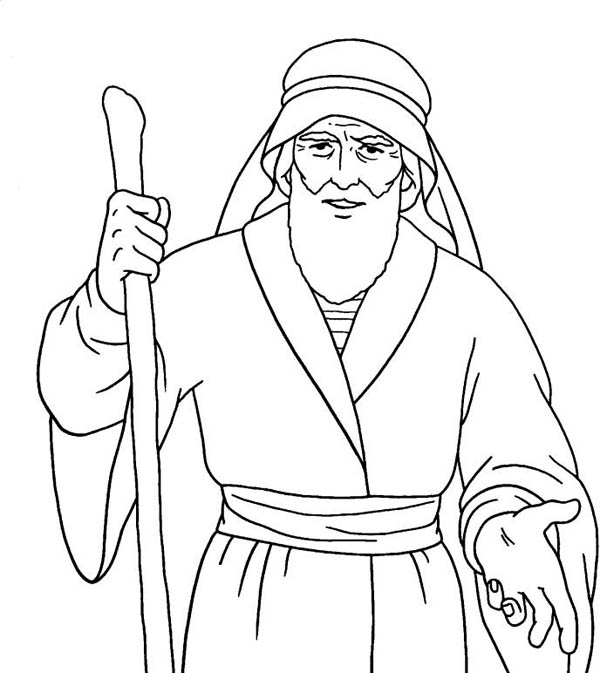600x673 Awesome Drawing Of Moses Coloring Page Color Luna