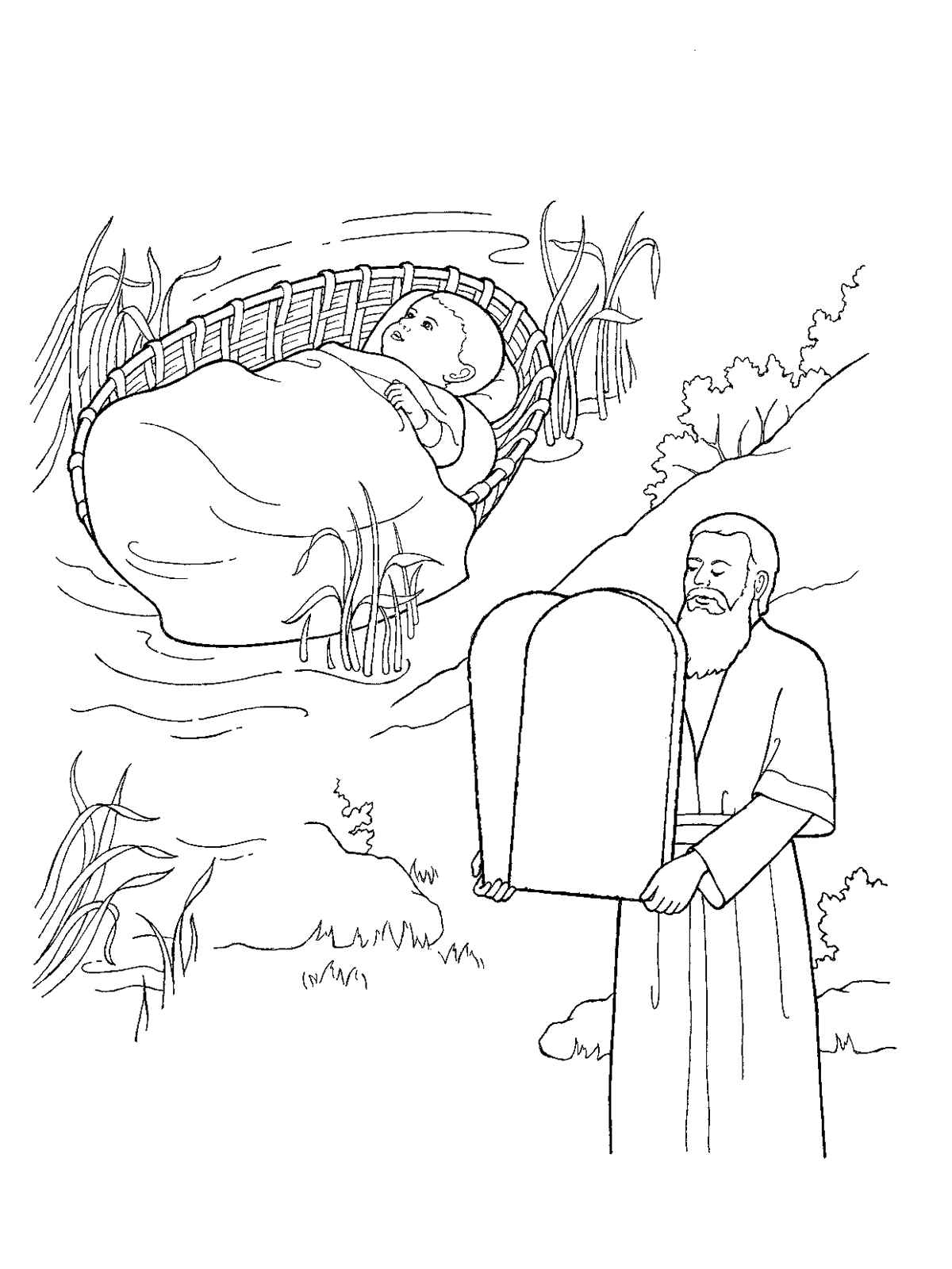 1200x1600 Moses As A Child And With The Ten Commandments