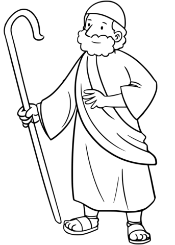 343x480 Moses Coloring Page Free Printable Coloring Pages
