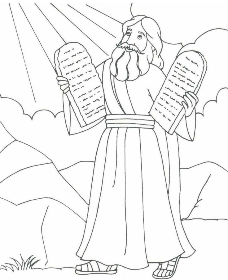 736x902 Printable Coloring Pages For Kids About Moses