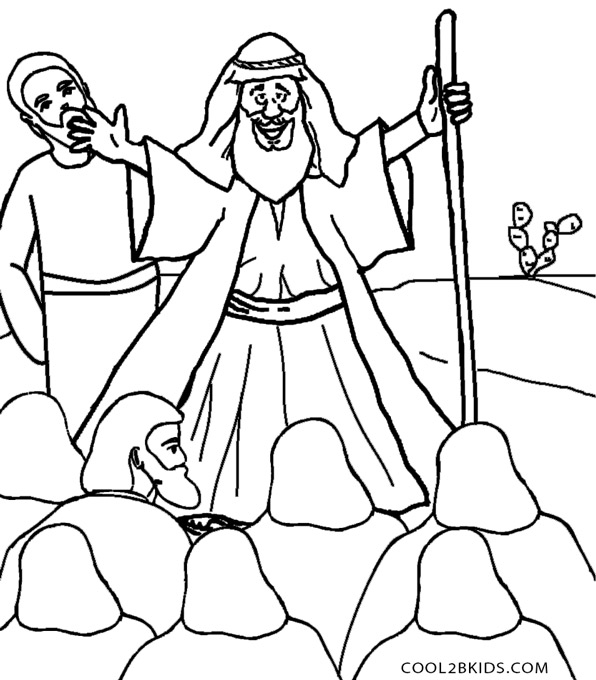 596x680 Printable Moses Coloring Pages For Kids Cool2bkids