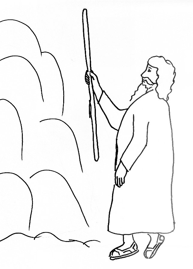 644x896 Bible Story Coloring Page For Moses And Water In The Wilderness