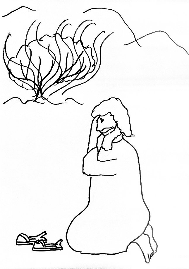 646x919 Bible Story Coloring Page For Moses And The Burning Bush Free