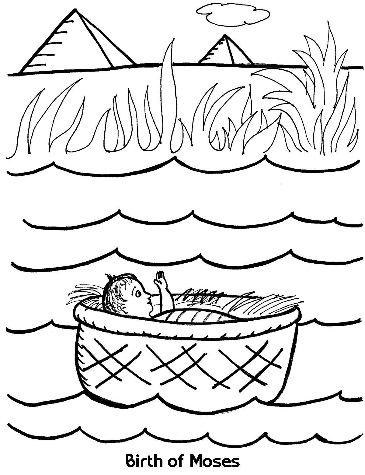 1200x1560 Birth Of Moses Coloring Sheet Wesleyan Kids
