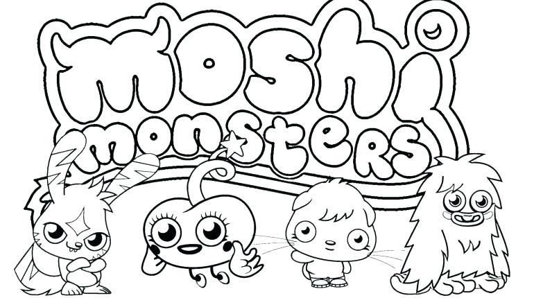 770x430 Moshi Monster Coloring Pages Monsters Coloring Pages Printable