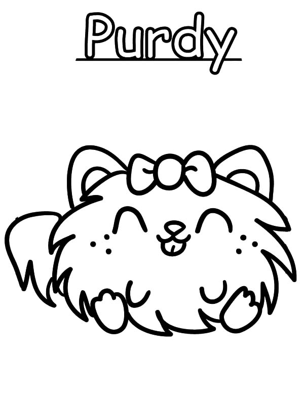 600x776 Moshi Monster Purdy Coloring Pages Color Luna