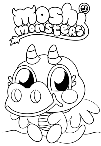 333x480 Moshi Monsters Burnie Coloring Page Free Printable Coloring Pages