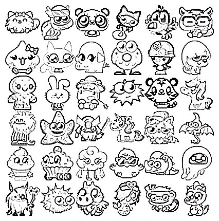 426x430 Coloring Pictures Of Moshi Monsters Moshlings
