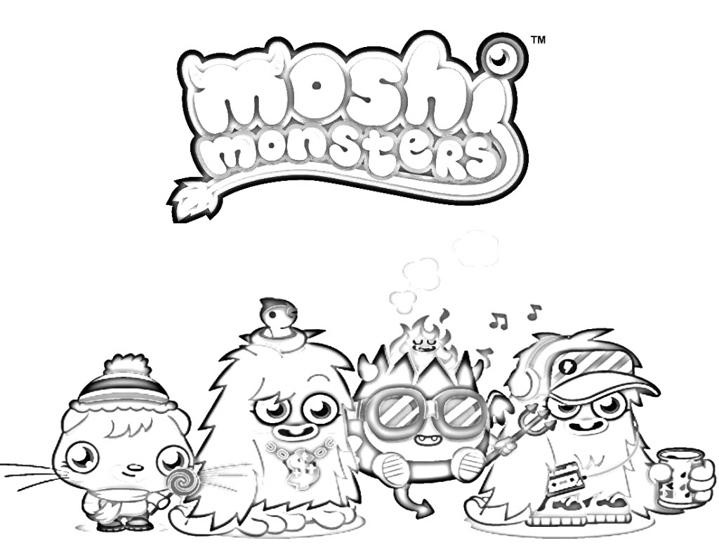 1024x791 Moshi Monster Coloring Pages