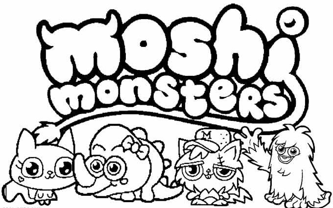 680x425 Moshi Monsters Coloring Pages Printable Moshi Monsters Coloring